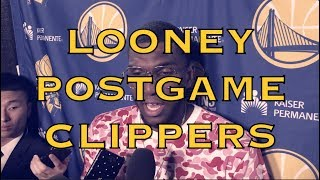 "KEVON LOONEY postgame after Warriors (11-3) loss to LA Clippers: ""It's a long season"""