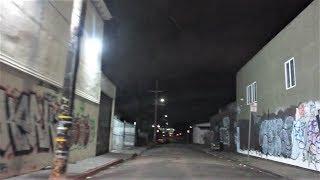 OAKLAND HOODS AT NIGHT