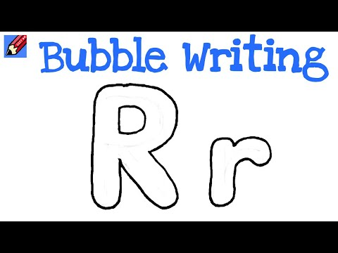 r bubble letter how to draw writing real easy letter r 24184 | hqdefault