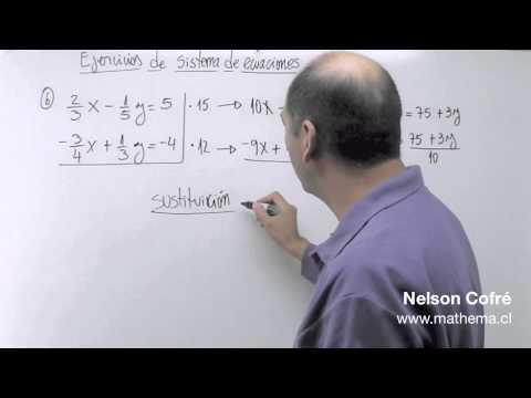 Sistema de ecuaciones 6