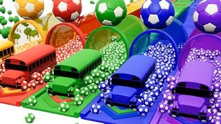 Learn Colors with Balls School Bus - Ball Colors Cars for Kids