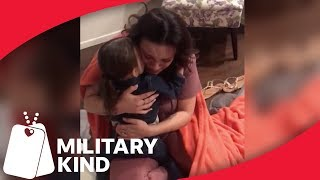 3-year-old Flies Across The Country To Surprise Navy Mom | Militarykind