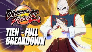 TIEN -  Combos, Supers, SELF SACRIFICE & Breakdown: DragonBall FighterZ