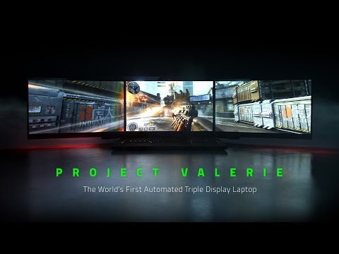 Razer's Project Valerie, the world's first triple display laptop, designed for gaming