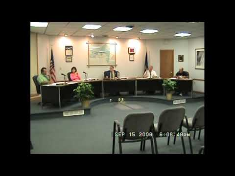 Rouses Point Village Board Meeting  9-15-08