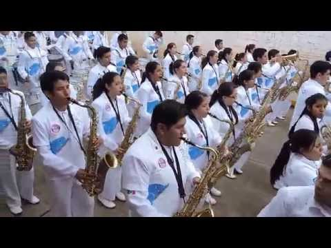 Delfines Marching Band Desfile Chignahuapan 2014