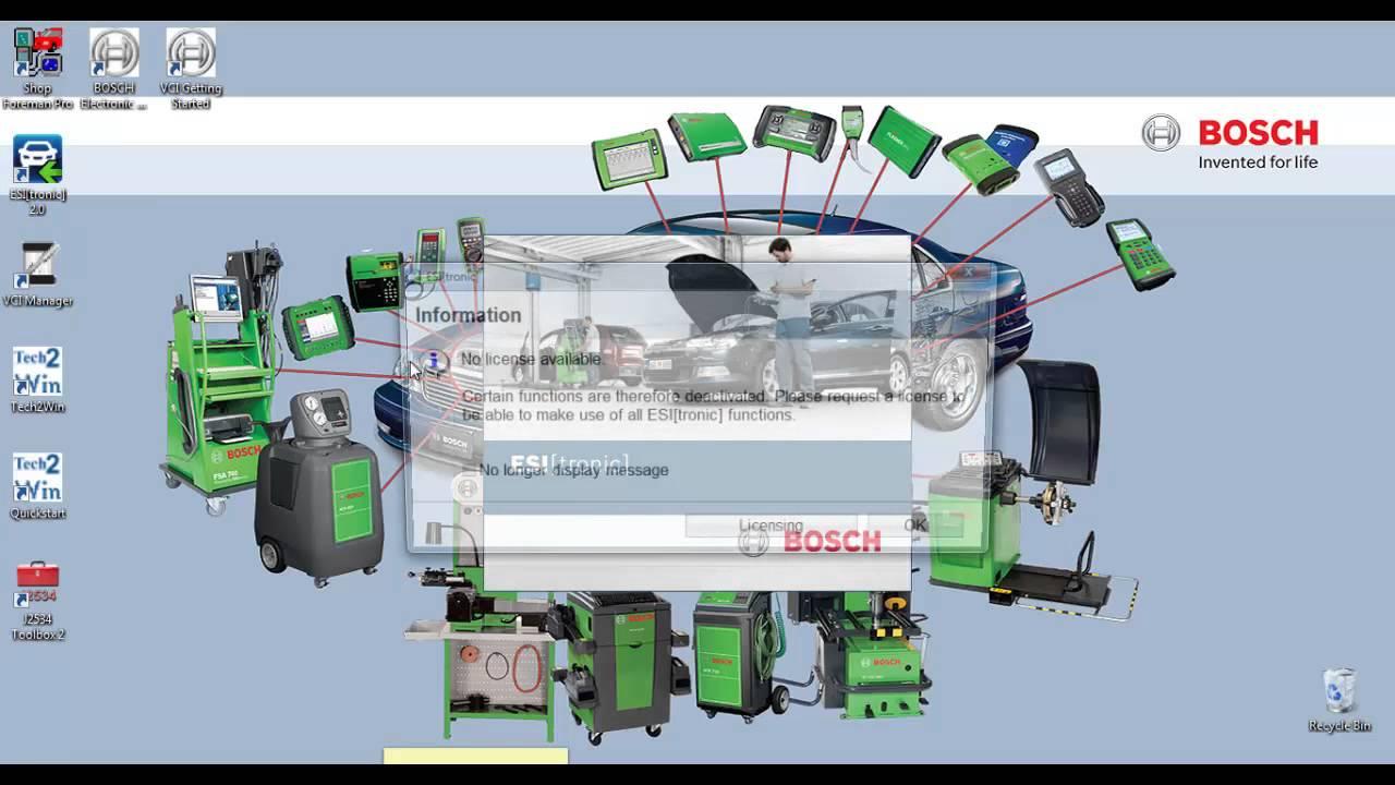 Bosch esi tronic key generator manuals