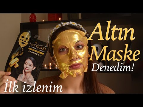 video Scinic 24K Gold Hydrogel Maske
