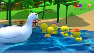 5 Little Ducks | Quack Quack Quack Quack | Kid English song 3D Animation