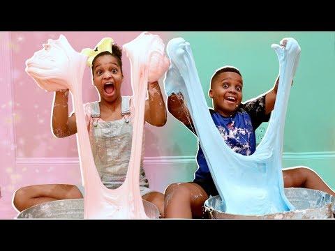 DIY FLUFFY SLIME! - Shiloh and Shasha - Onyx Kids