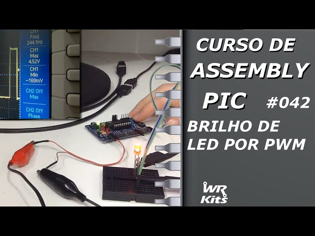 BRILHO DE LED POR PWM | Assembly para PIC #042
