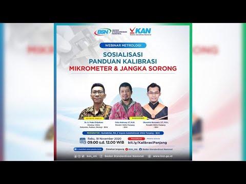 https://www.youtube.com/watch?v=JUaJ0C50b-kWebinar Metrologi: Sosialisasi Panduan Kalibrasi Mikrometer dan Jangka Sorong