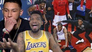 KAWHI BACKPACKS SIMMONS CHOKES!! RAPTORS vs SIXERS GAME 7 NBA PLAYOFFS HIGHLIGHTS