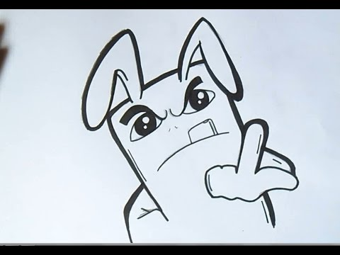 Como dibujar conejo graffitero paso a paso  VideoMovilescom
