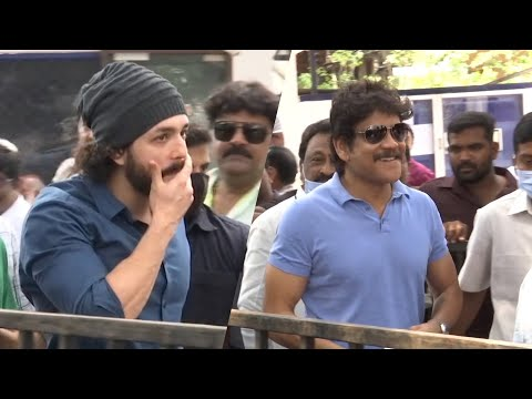 Watch: Nagarjuna and Akhil casts votes in MAA Elections 2021