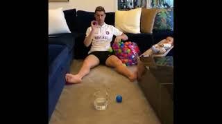 كريستيانو رونالدو بيلعب لعبة جديدة مع ابنه بعد مباراة ريال مدريد ...