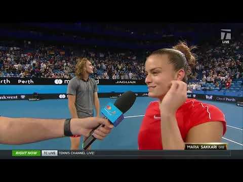 Tennis Channel Live: Maria Sakkari Steals Roger Federer's Towel After Match
