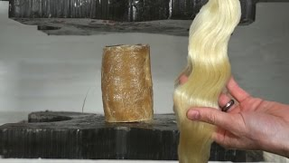 How Strong Is Human Hair Composite When Crushed In A Hydraulic Press?