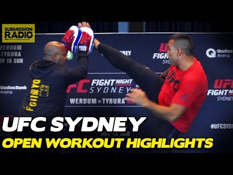 "Highlight z media treningu UFC Sydney: ""Werdum vs Tybura"""