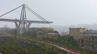 'Immense tragedy' as Genoa motorway bridge collapses