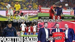 💥Tin bóng đá 20/11|Tottenham CHÍNH THỨC sa thải HLV Pochettino! Văn lâm tỏa sáng VN hòa Thái Lan,