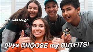 guy friends choose my outfits for a week