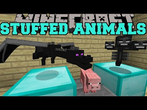 Minecraft: STUFFED ANIMALS (MOB TROPHIES WITH SOUND EFFECTS!) Mod Showcase