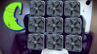 10 Fans for 10 Hours of Fan White Noise for Sleep = Fan Noise