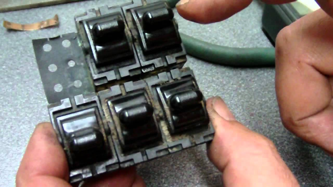 1995 JEEP Cherokee Power Window Switch Repair - YouTube