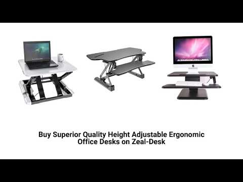 Best Height Adjustable Ergonomic Office Desks of 2018