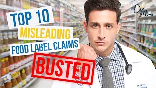 Top 10 Misleading Food Label Claims | Nutrition Labels BUSTED!!!
