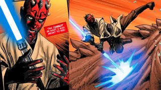 When Darth Maul Found his Blue Lightsaber(Canon) - Star Wars Comics Explained