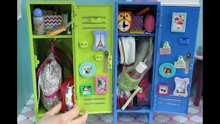 Packing American Girl Doll School Lockers