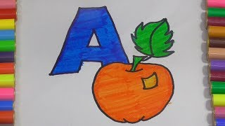 Alphabets Nursery Fundamentals With Fruits Fun Learning Drawing For Babies