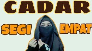 Tutorial Cadar Dari Hijab Segi 4 || versi deliaseptiani