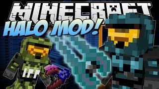 Minecraft | HALO MOD! (Mongoose, Energy Sword, Epic Weapons & More!) | Mod Showcase