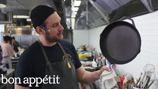 How to Clean a Cast-Iron Skillet with Brad | Bon Appétit