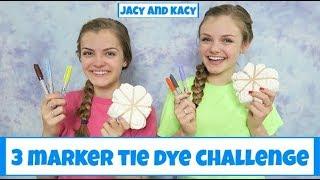 3 Marker Tie Dye Challenge ~ DIY Fun Shirts ~ Jacy and Kacy
