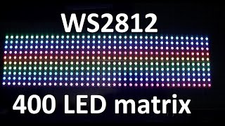 STM32 and Neopixel WS2812 LED Matrix - Code included - Youssif M