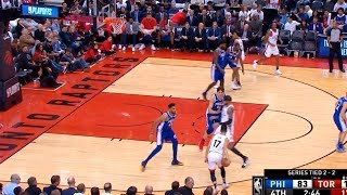 Jeremy Lin plays his first minutes of a second round in the NBA playoffs - 76ers at Raptors 5/7/19