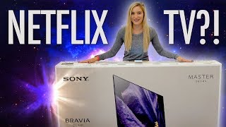 A NETFLIX TV?! Sony Master Series OLED A9F!