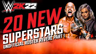 New Superstars in WWE 2K22 - Part 1 (Unofficial Roster)