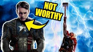 The Dark Reason Captain America REALLY Can't Lift Mjolnir