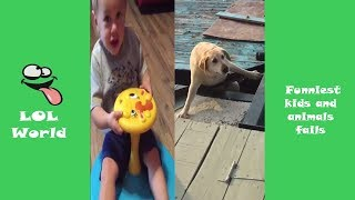 TRY NOT TO LAUGH or GRIN CHALLENG - Epic kids and animals fails