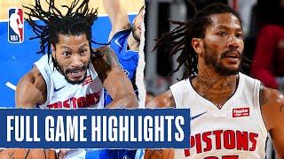 MAVERICKS at PISTONS | Rose And Kennard  Lead Pistons In Comeback Win  | 2019 NBA Preseason