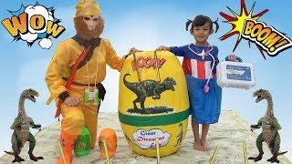 Sinh Nhật Trứng Khủng Long Khổng Lồ - GIANT EGG SURPRISE OPENING ❤ AnAn ToysReview TV ❤