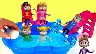 Alvin and the Chipmunks Dive in a Pool for Toys