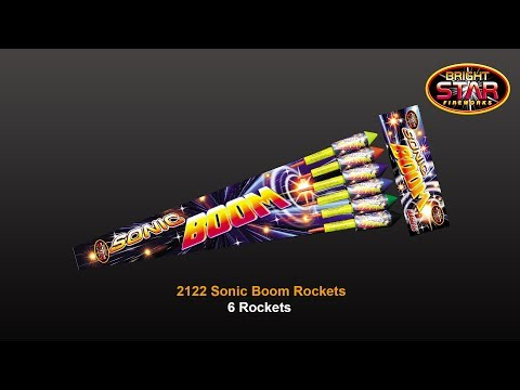 Bright Star Fireworks Sonic Boom Rockets - Pack of 6