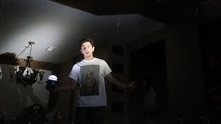 STAYING OVERNIGHT IN A HAUNTED HOUSE WITH NO POWER!! (this happened..)   FaZe Rug