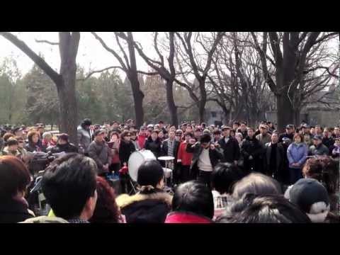 Beijing: cori nei parchi.